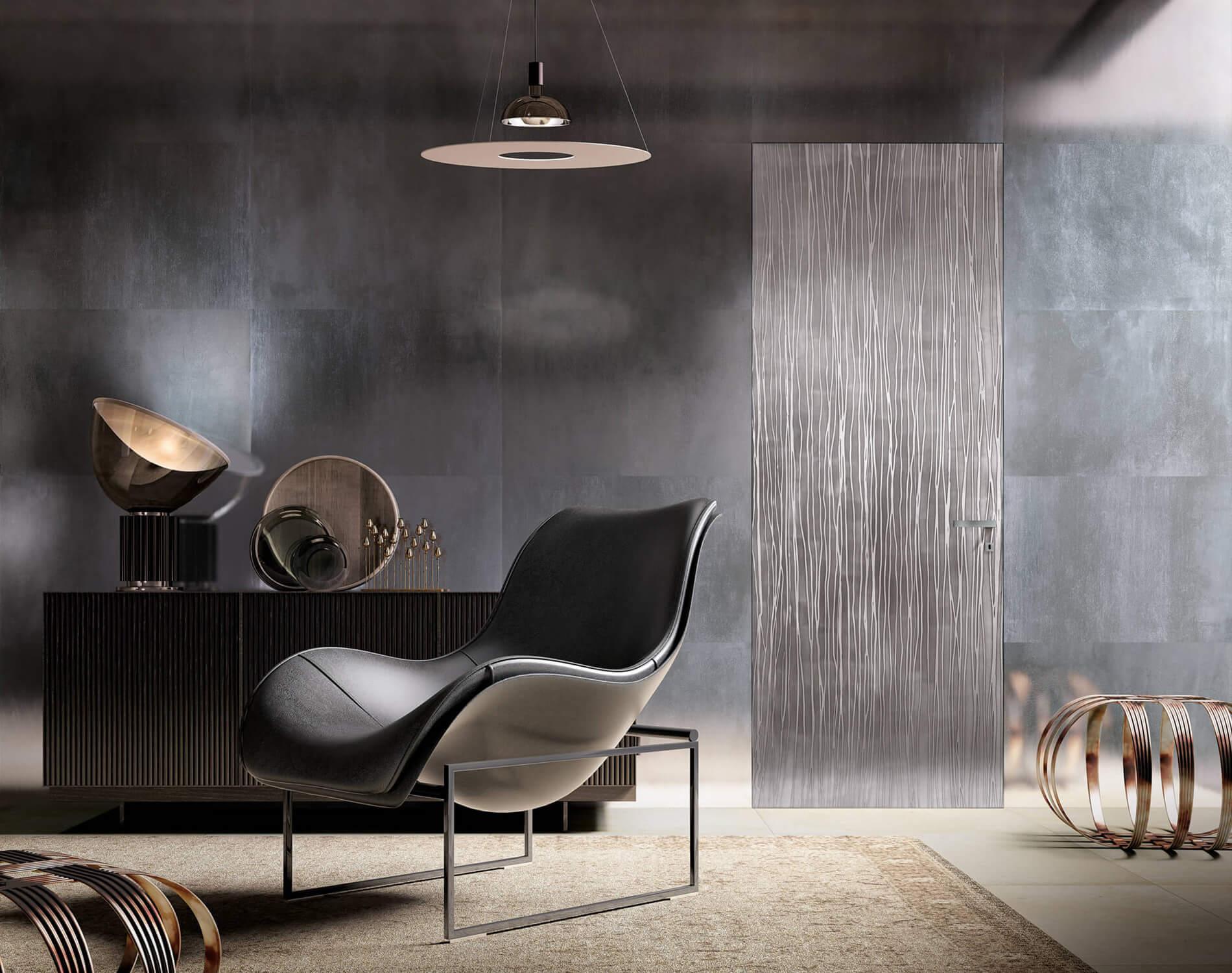 Porte interne di design bergamo for Arredo inox crotone