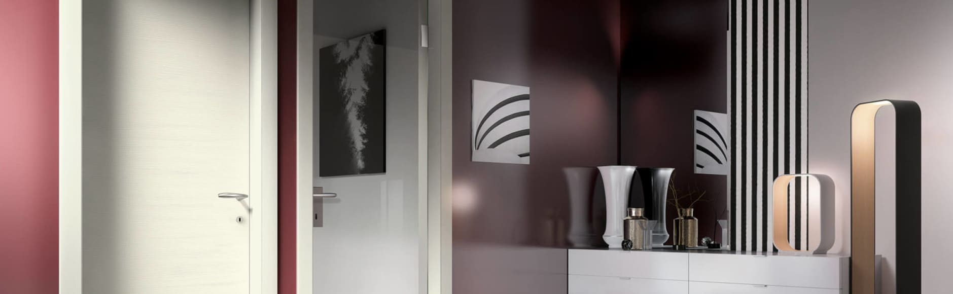 porte moderne in legno bergamo